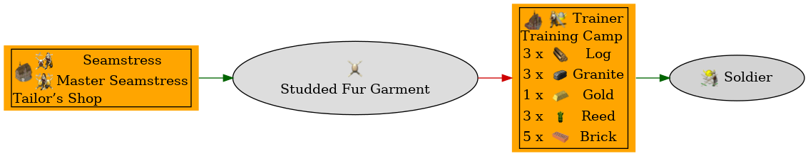 Graph for Studded Fur Garment